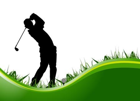 ゴルフ プレーヤーの背景  イラスト・ベクター素材