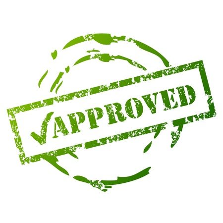 approve icon: Approved rubber stamp