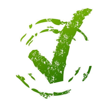 valider: Grunge Approuv� signe Illustration
