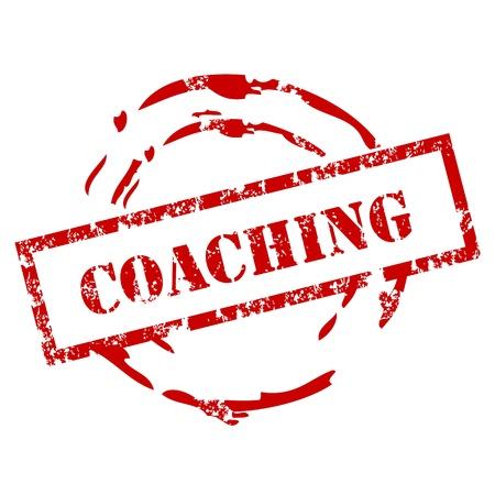 coaching: Tampon en caoutchouc Coaching Illustration