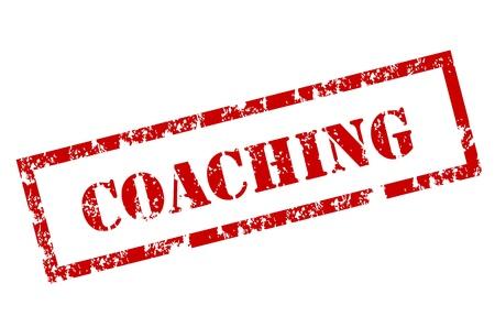 administrative: Grunge sello de coaching Vectores