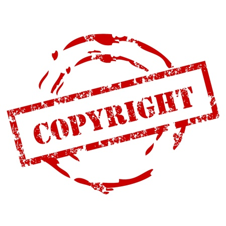 Copyright rubber stamp Stock Vector - 12222029