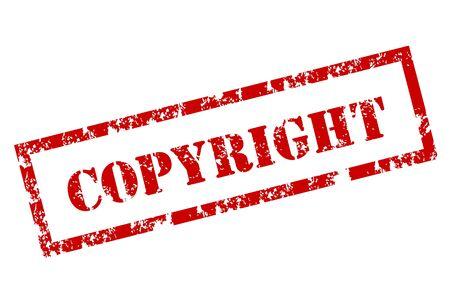 licence: Grunge Copyright stamp