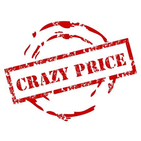 Pazzo prezzo timbro di gomma