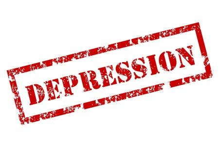 Grunge sello de la depresión