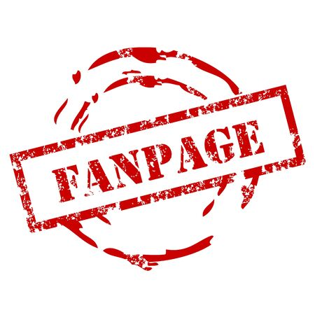 fanpage: Fanpage rubber stamp Illustration