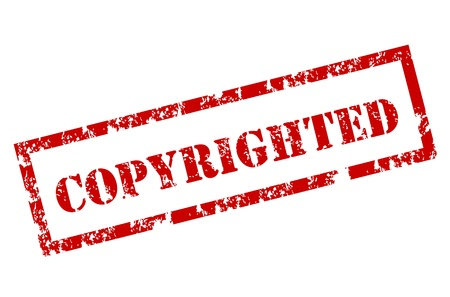 Grunge Copyrighted Stamp Stock Vector - 12222002
