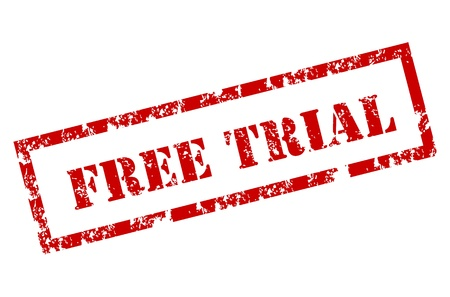 trials: Free trial rubber stamp
