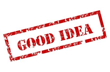 good idea stamp Stock Vector - 12221946