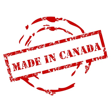 canada stamp: Made in Canada Rubber Stamp
