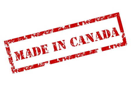 canada stamp: Made in Canada stamp