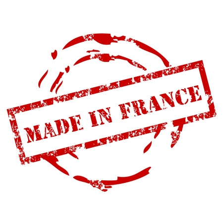 Grunge Made in France Stamp Vector