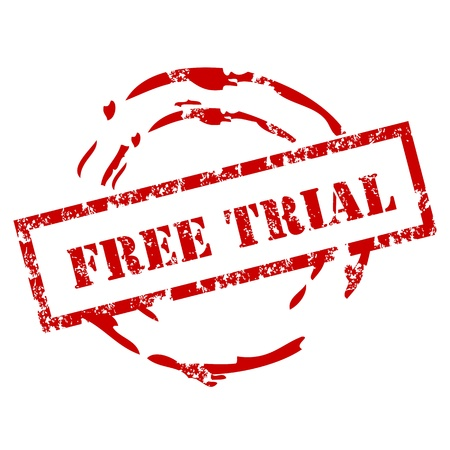 trial: Free trial rubber stamp