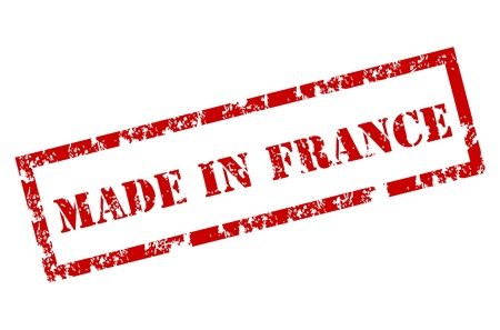fabrication: Grunge Made in France Stamp
