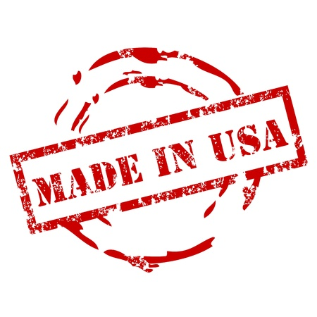 grunge stamp: Grunge made in USA stamp Illustration