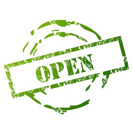 Open rubber stamp Vector