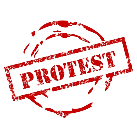 Grunge Protest stamp Stock Vector - 12222016