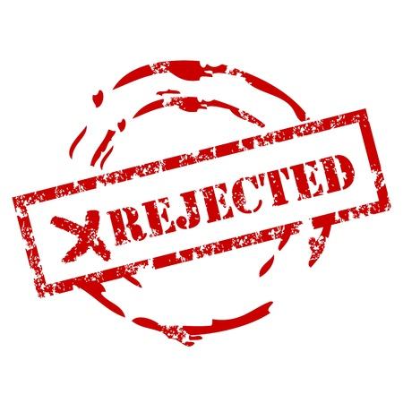 Rejected grunge stempel