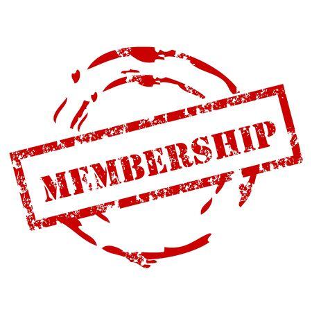 member: Grunge membership stamp Illustration
