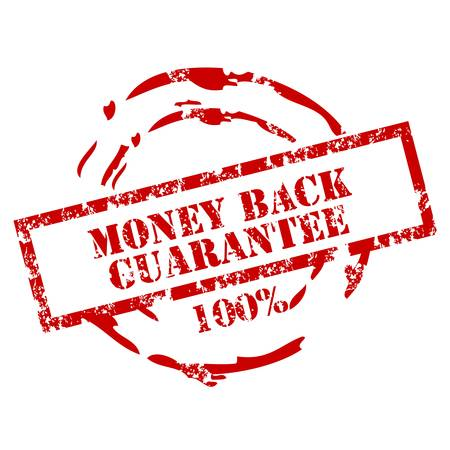 Money back stamp 100% Stock Vector - 12222073