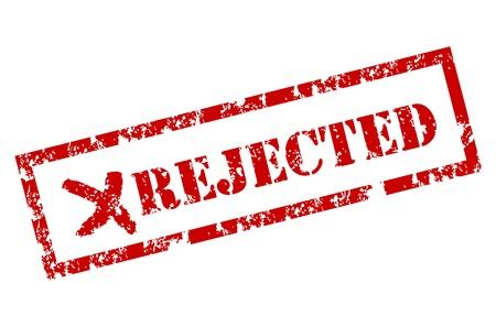 rejected: Grunge rejected stamp
