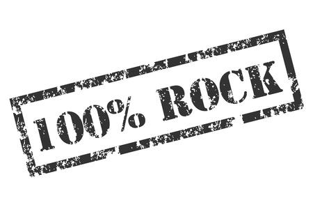 hard rock: Grunge 100% Rock stamp