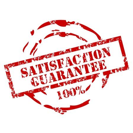 customer satisfaction: Guarantee Rubber stamp Illustration