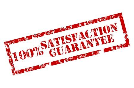 zufriedenheitsgarantie: Zufriedenheits-Garantie-Stempel