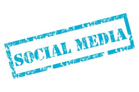 social media stamp Stock Vector - 12221973