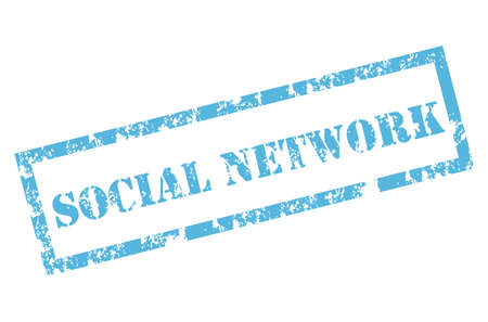 social network stamp Vector