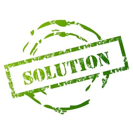 Grunge Oplossing Stamp Vector Illustratie
