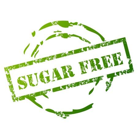 Suikervrije grunge stempel Vector Illustratie