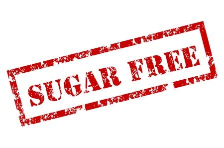 Grunge Sugar Free stamp Stock Vector - 12221982
