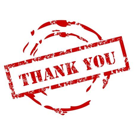 merci: Merci tampon en caoutchouc