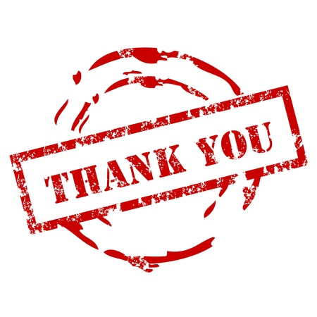 thanks you: Thank you rubber stamp
