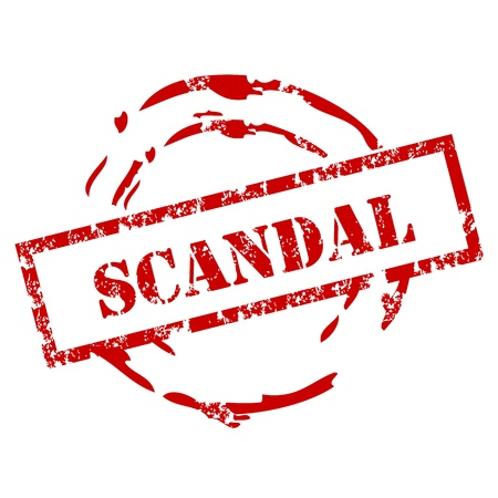 Grunge Scandal stamp Vector