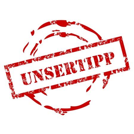 recommendation: Grunge Unser tipp stamp Illustration
