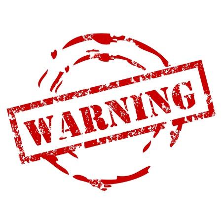 prestar atencion: Grunge sello de advertencia Vectores