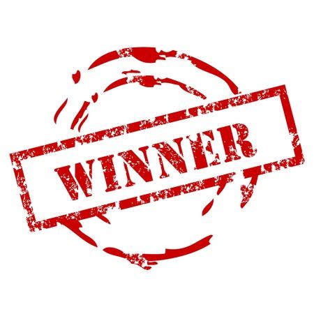 Ganador del sello de goma Ilustración de vector