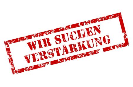 Wir Suchen Verstarkung stamp Stock Vector - 12221987
