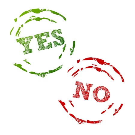 Yes and No Stamps Vector