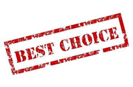 Grunge Beste keuze stempel Vector Illustratie