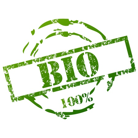 biologic: 100% Bio Stamp Illustration