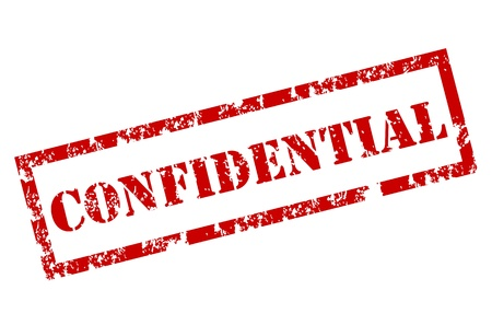 authorization: Confidential rubber stamp Illustration