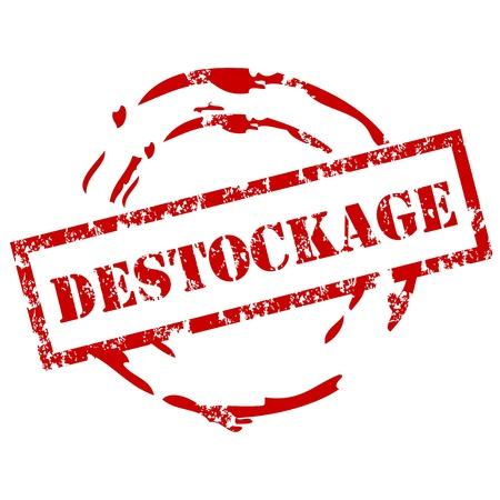massif: destockage rubber stamp Illustration