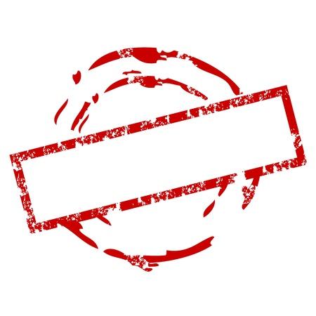 tampon cire: Tampon de caoutchouc vide Illustration