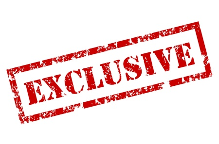 Grunge Exclusieve stempel Vector Illustratie