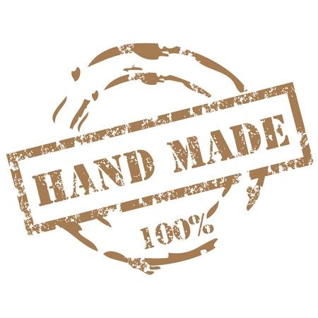 handmade: Handmade stamp Illustration