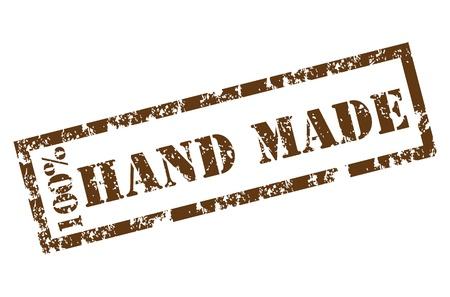 100% Handmade stamp Stock Vector - 12221991