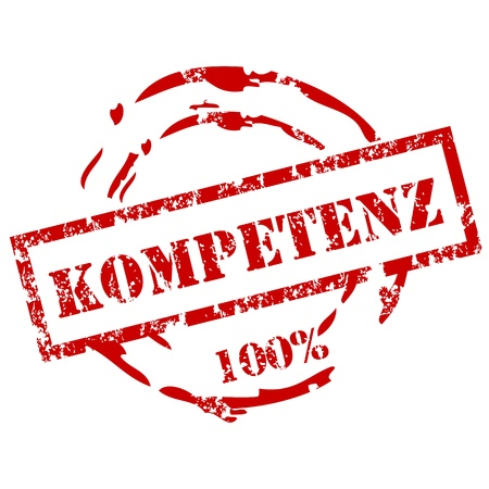 100% Kompetenz stamp Vector